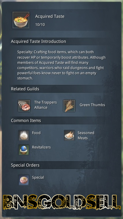 How to choose Crafting Job in Blade and Soul