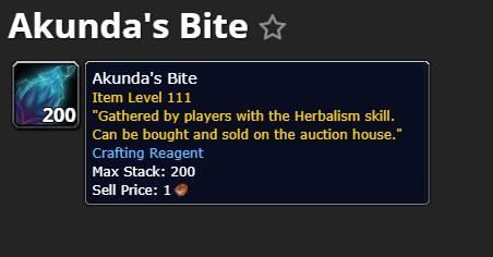 Akunda's bite farming guide