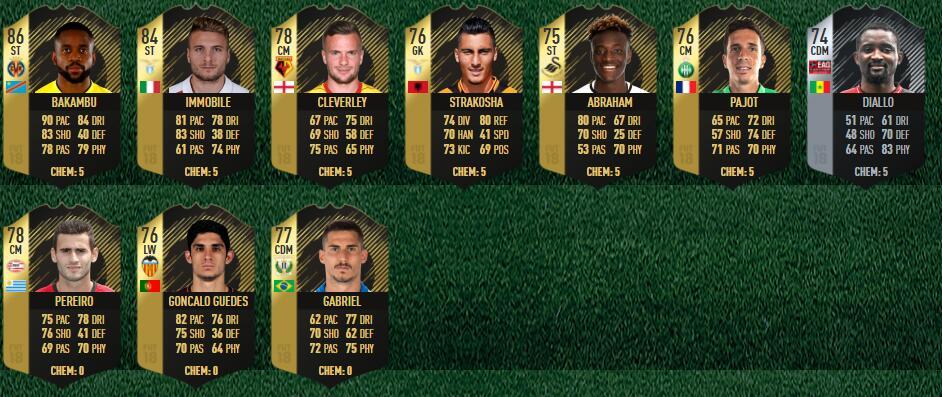 FIFA 18 TOTW 5