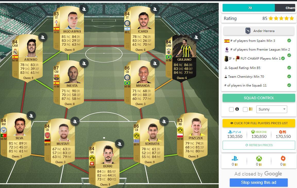 FIFA 18 Squad Building Challenge