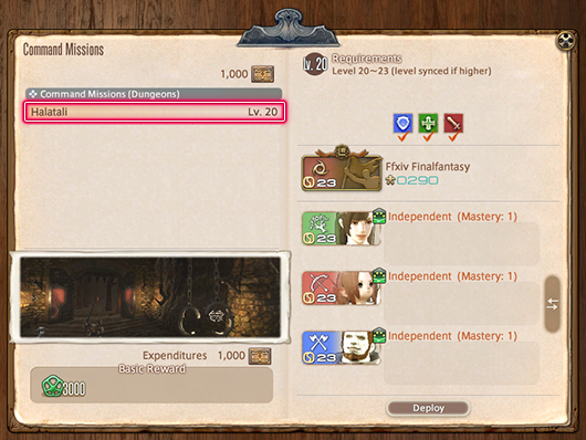 FFXIV Command Missions