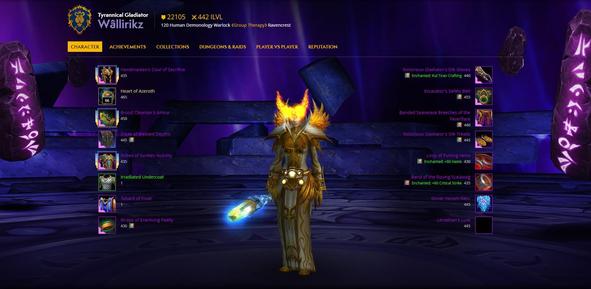 warlock skills in wow classic