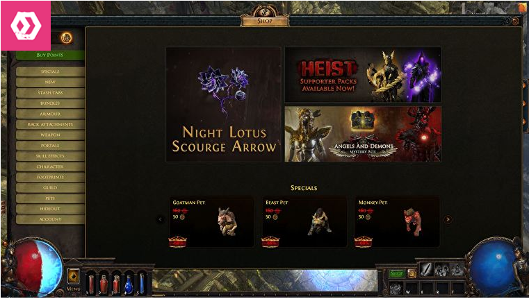 microtransactions in Path Of Exile