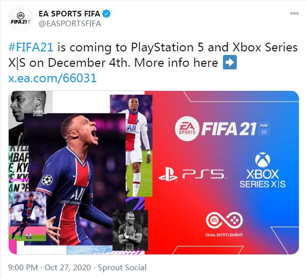 FIFA 21 next-gen release date