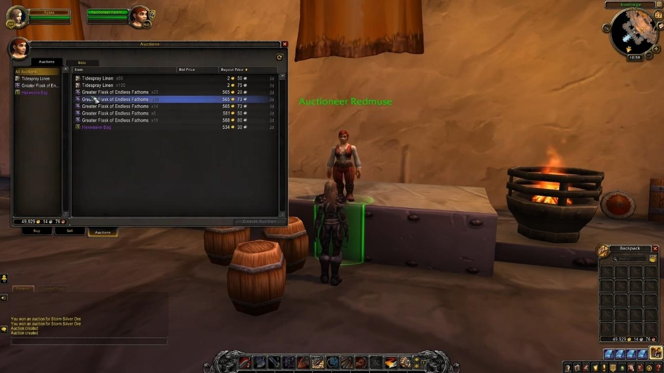 wow classic tbc Auction House
