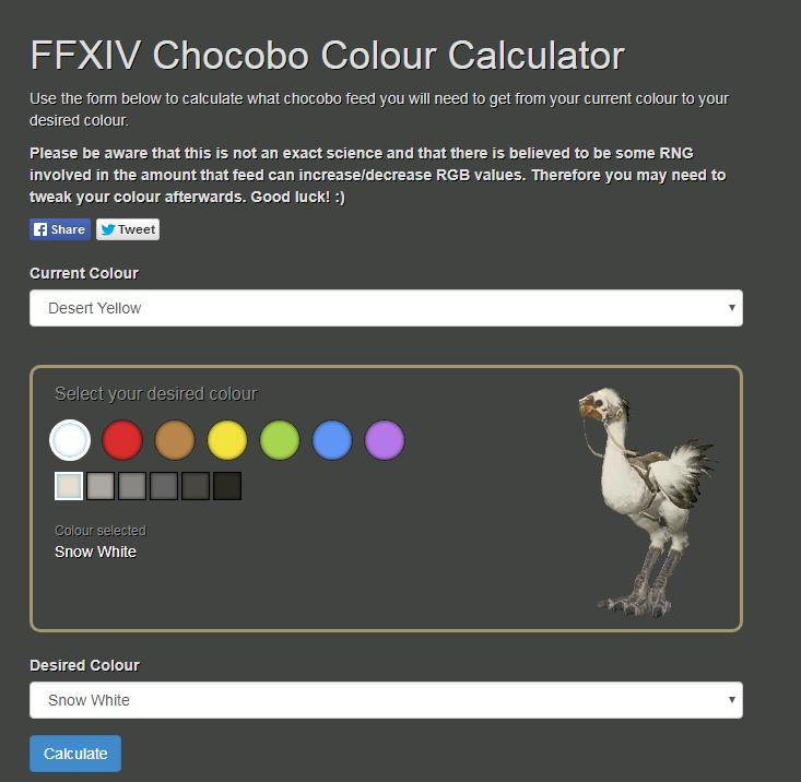 chocobo color caculator