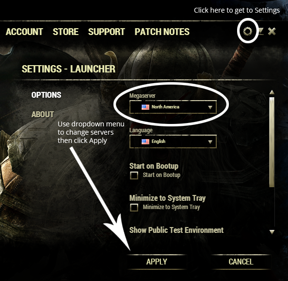 Elder Scrolls Online - How to Change Servers on PC (with Pictures)